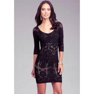 Bebe Bodycon Dress Black Lace